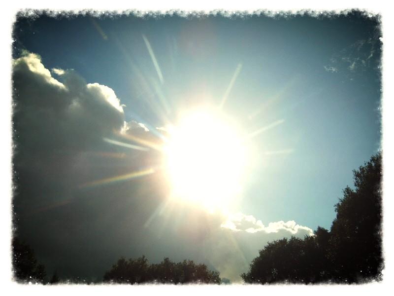6) Het regent zonnestralen