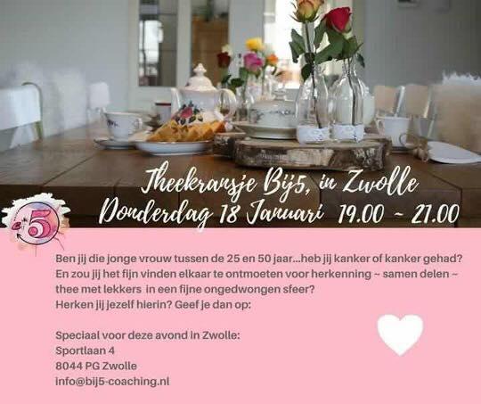 Theekransje vrouwen met kanker – Zwolle